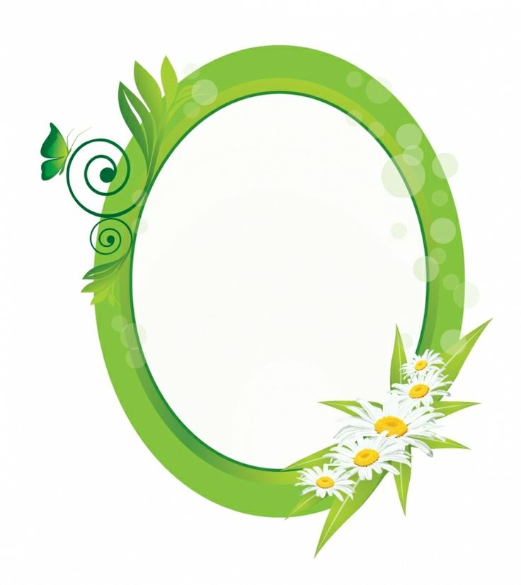 FLOWERS / Free vector Vector flower Green elipse with flowers