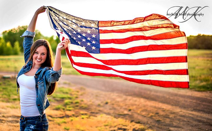 Michelle Kroll Photography-Parker Colorado Photographer 4th of July seniors patriotic shoot