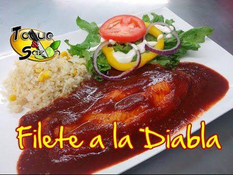 "Filete de Pescado a la Diabla ""paso a paso"" (TOQUE Y SAZÓN) Receta de Filete a la Diabla - YouTube"