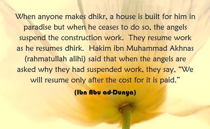 Dhikr of Allah. (Islam)