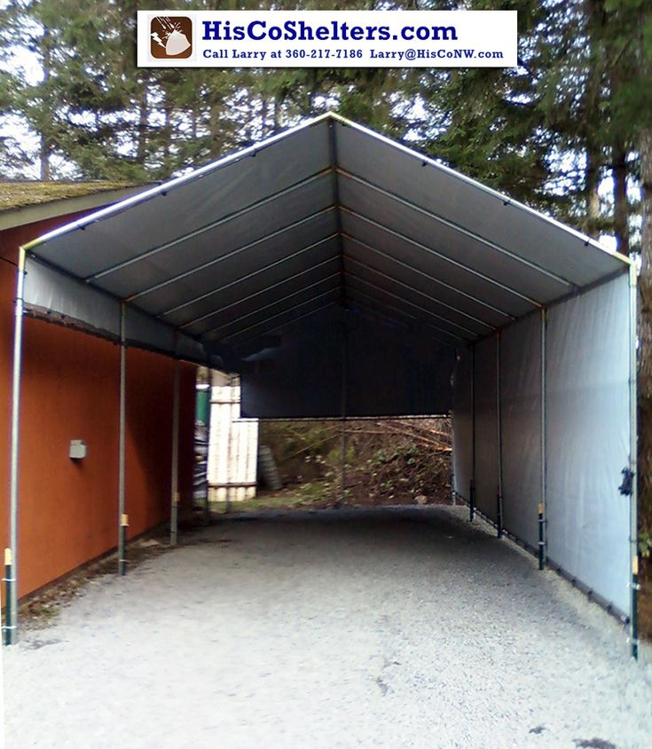 Make-Your-Own Portable Carport Shelter kits.**Long Lasting Heavy Duty Covers for MotorHome, 5th Wheel, RV, Trailer, Boat, Truck. ** Sizes:10' to 30' wide * 7' to 12' sides * 11' to 20' at peak * any length. ** Prices from $697 **Come check out our website explore what we have because there are free shipping both ways you can feel comfortable you are going to get good purchase from us. #carport #portablecarport #garage