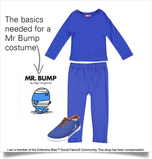 The beginnings of a Mr Bump costume with basics bought at #cookieskids!