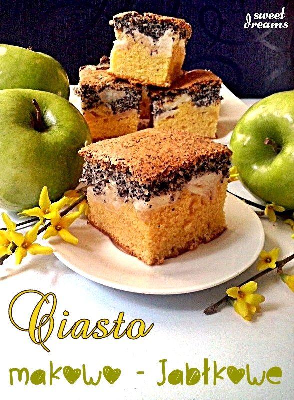 Ciasto makowo - jabłkowe