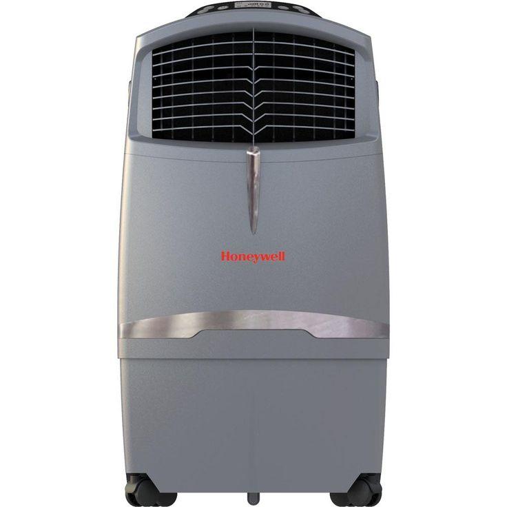63 Pt. Indoor Portable Evaporative Air Cooler with Remote Control, Grey