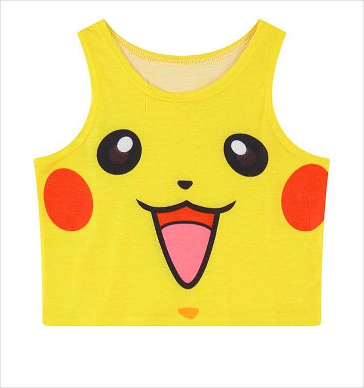 Pokemon Face Crop Top Tank