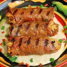 Fajita Beef Roll Ups: Milanesa style sliced beef