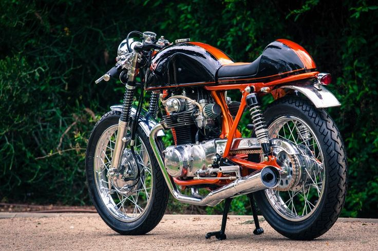 Super classy 1970 Honda CB350 Cafe racer from Israel's Back On Two workshop.