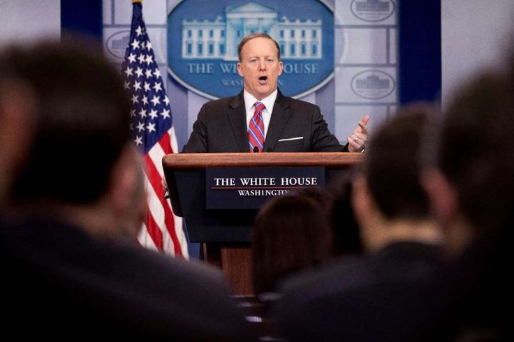 """The Associated Press: White House press secretary Sean Spicer issued a statement about the dinner: """"The staff is standing in solidarity with the president, who has been treated unfairly."""""""
