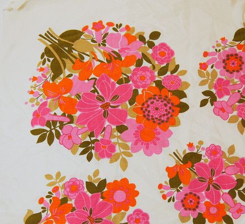 vintage printed tablecloth fabric