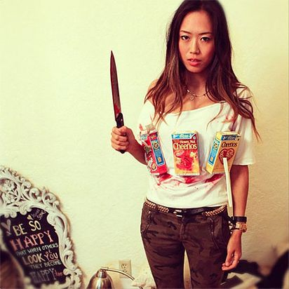 26 Hilariously Clever Halloween Costumes- cereal killer
