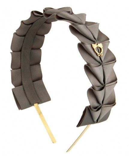 simple 'origami' folded grosgrain ribbon