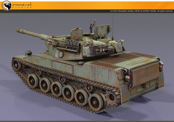ArtStation - Stingray Tank (Armored Warfare), Audrey wong