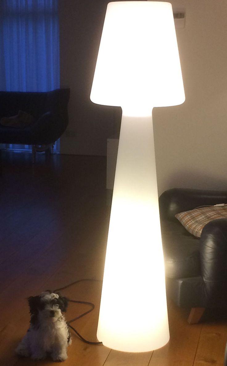 NewGarden Lola  165 cm buitenverlichting staande lamp wit kunststof