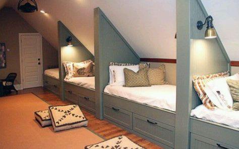 Hast du auch einen Dachboden mit Dachschräge? Mit einem Schrank nach Maß kann man mehr Raum nutzen... 10 Ideen! - DIY Bastelideen