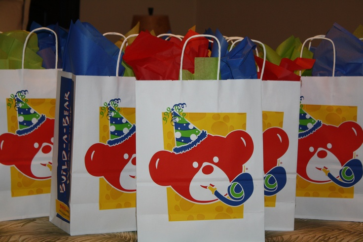Build-A-Bear-Party - Each invitation was delivered in a special way, using a build-a-bear gift bag.