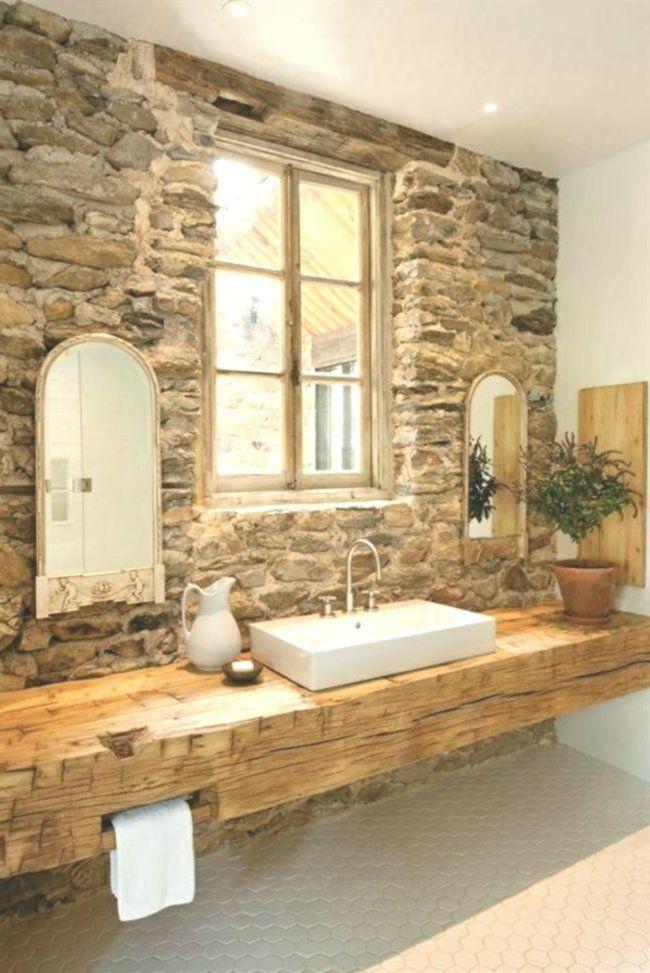 Badezimmer Holz Waschbecken Steinwand Rustikale Einrichtung Mit Bildern Badezimmer Holz Badezimmer Rustikal