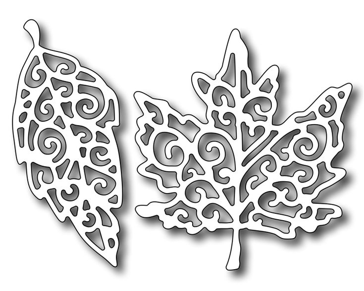 Frantic Stamper - Precision Dies - Fancy Leaves