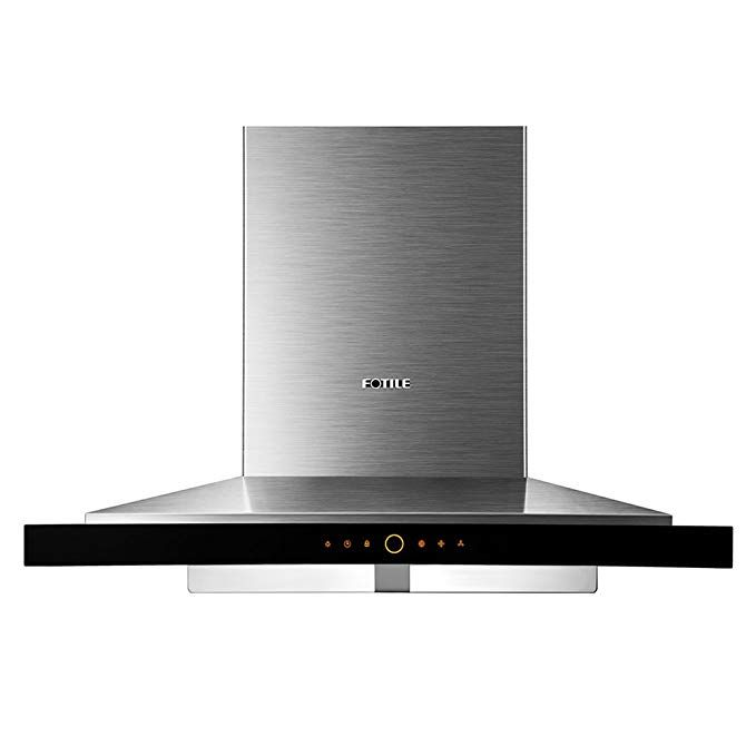 Fotile Ems9018 36 Wall Mounted Chimney Stainless Steel Kitchen Range Hood With Led Lights Review Wall Mount Range Hood Range Hood Kitchen Range Hood