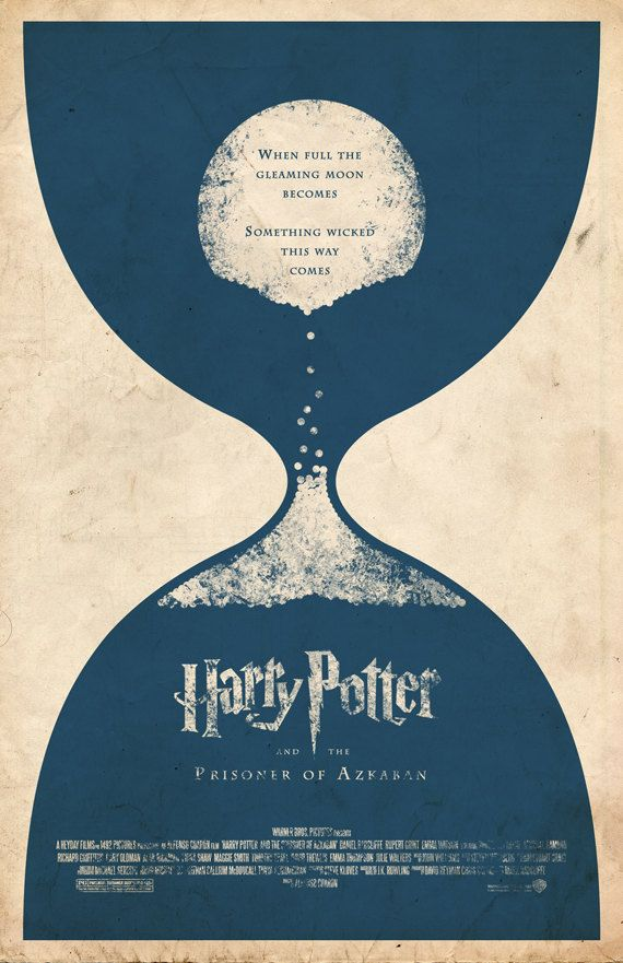 Harry Potter and the Prisoner of Azkaban Movie Poster by adamrabalais on etsy