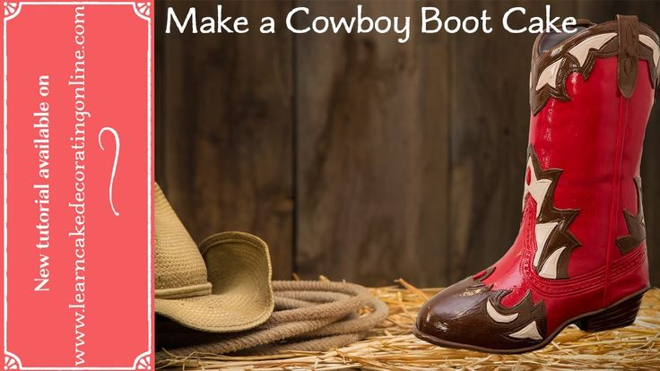 how to make icing cowboy boots