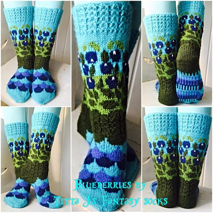 Blueberries by Titta J's Fantasysocks