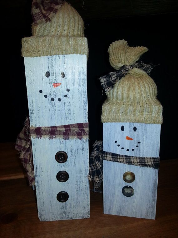 Cute Snowmen Pair Perfect for Indoor or Outdoor Decor. on Etsy, $30.00