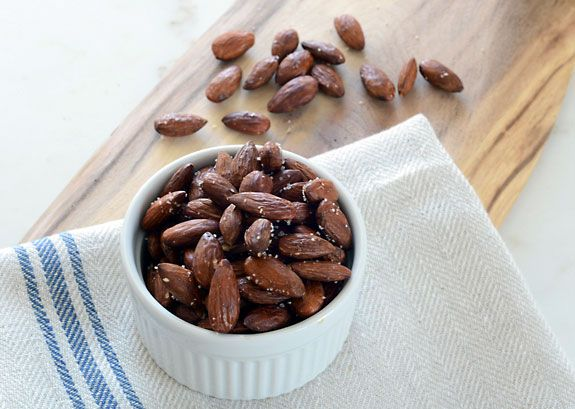Learn How to Roast Almonds with salt in the oven the easy way for a delicious and naturally gluten free healthy snack!
