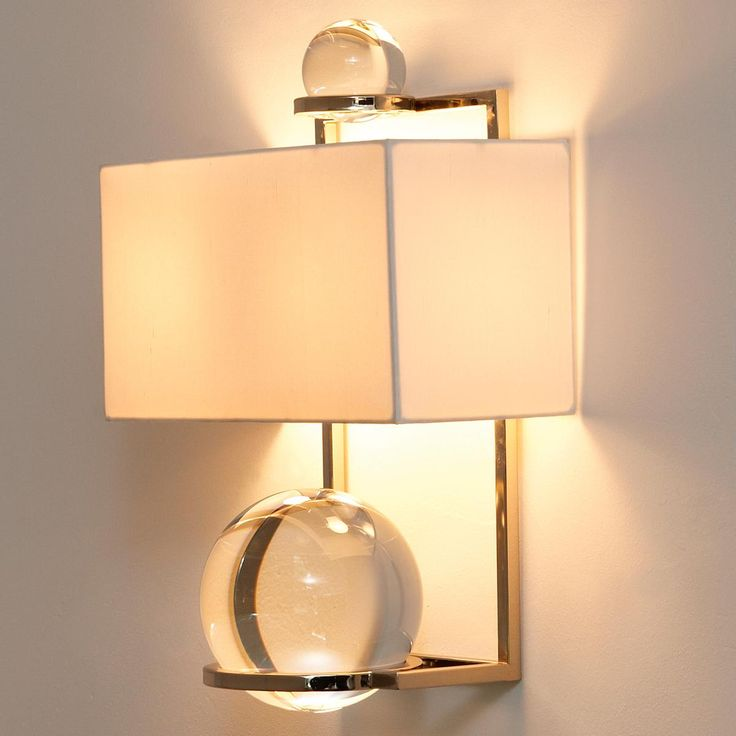 crystal globes wall sconce