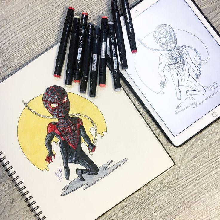 #человекпаук #персонаж #майлзморалес #комиксы #марвел #марвелкомиксы #арт #рисунок #скетч #скетчбук #графика #иллюстрация #2016 #spiderman #milesmorales #character #comics #marvel #marvelcomics #art #draw #sketch #sketchbbok #graphic #illustration #doodle #nza #nzart #nick_arty