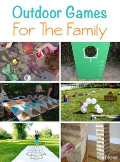 From a mini golf course you can build in your backward (with really fun, easy to find materials!) to hopscotch and picnics, take a look at all the fun outdoor activities you can do with your family this summer! http://www.ehow.com/list_6672651_fun-outdoor-games-family.html?utm_source=pinterest.com&utm_medium=referral&utm_content=curated&utm_campaign=fanpage