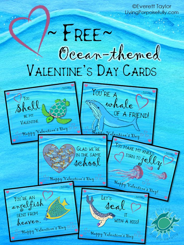 With Valentine's Day nearing, what better way to spread the love than with ocean-themed Valentine greetings? So to bring you a smile, we came up with some lovableocean-themed puns and made them i...