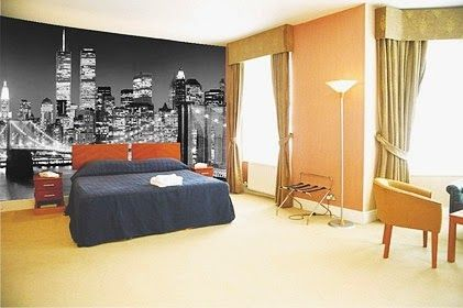 Amazing City World Wall Murals Stickers for Modern Bedroom Decorating Ideas