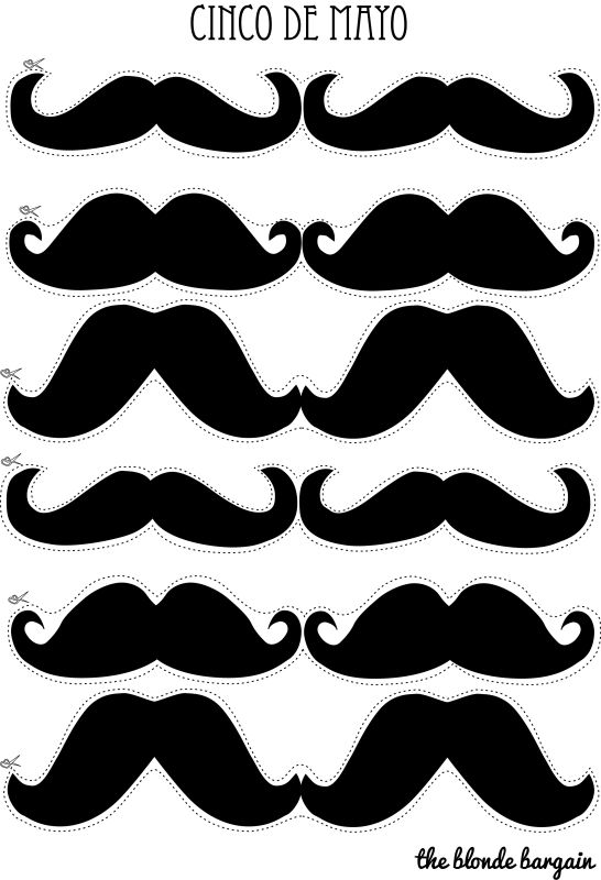21 best father 39 s day crafts images on pinterest mustache for Mustache print out template