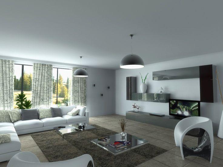 La sala de estar es la mayor sala de la casa. hay una televisión, una mesa pequeña, dos estantes, una alfombra, una silla, dos ventanas y un gran sofá. Aquì podemos divertirse y hacer fiestas