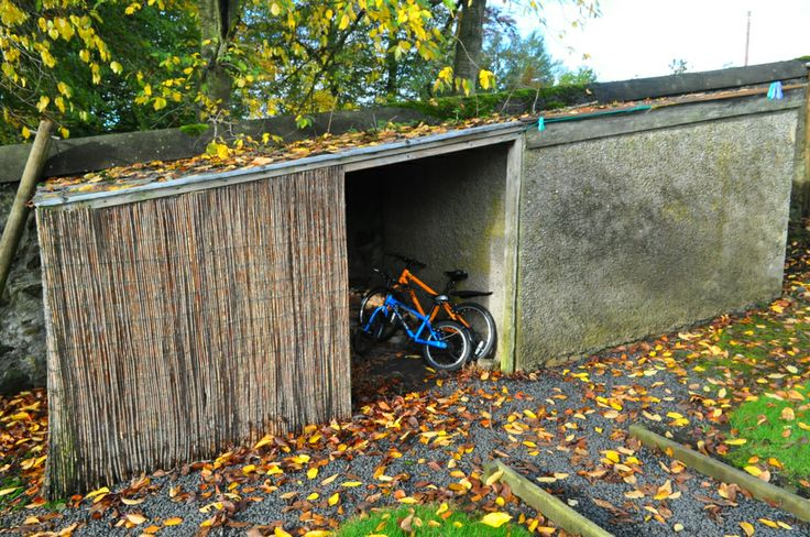 Bike storage at West Lodge Mellerstain House  http://www.cyclesprog.co.uk/get-cycling/west-lodge-mellerstain-house-review/