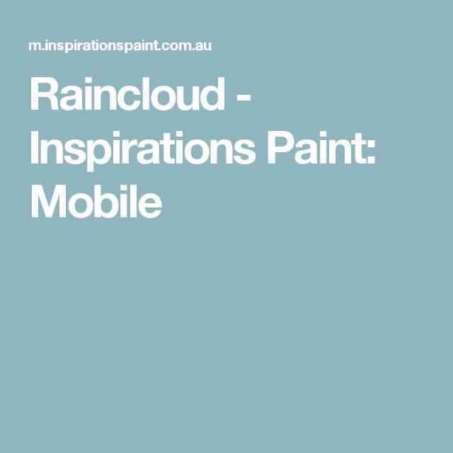 Raincloud - Inspirations Paint: Mobile
