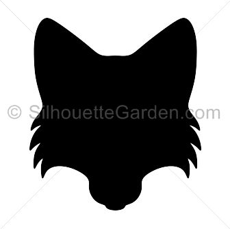 Fox head silhouette clip art. Download free versions of the image in EPS, JPG, PDF, PNG, and SVG formats at http://silhouettegarden.com/download/fox-head-silhouette/