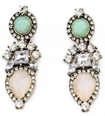 Pastel Perennial Drop Earrings- $26.50