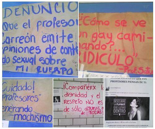 Haciendo visible el sexismo en el aula. Excelente campaña de las chavas de la ENTS-UNAM.
