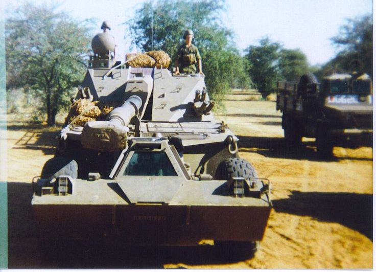 SADF G6 howitzer ready for combat.