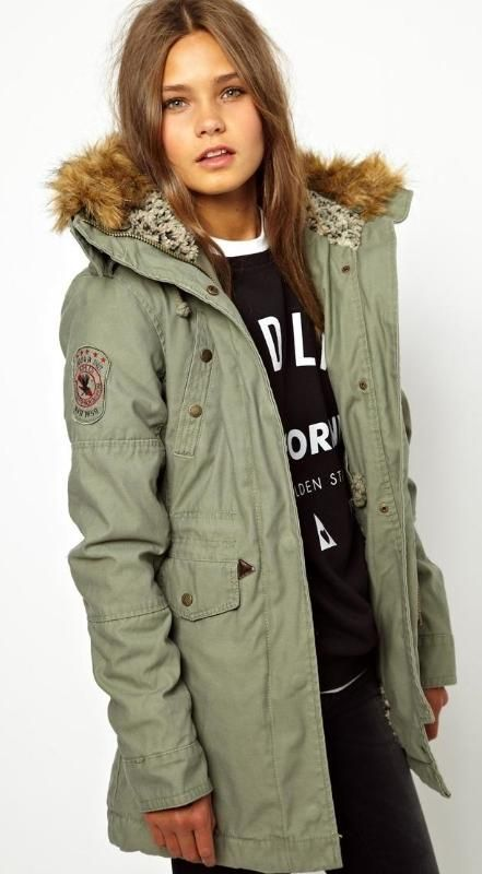 Alpha Industries Fishtail Parka With Faux Fur Lined Hood++ASOS  I love the hood lining!