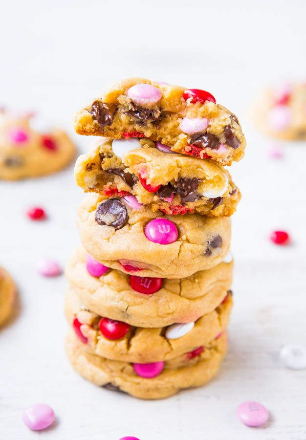 Soft M&M Chocolate Chip Cookies