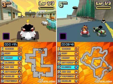 Cartoon Network Racing NDS.Tomando los personajes del juego popular serie de dibujos animados o, pegarlos en algunos karts, y la liberación de juego...