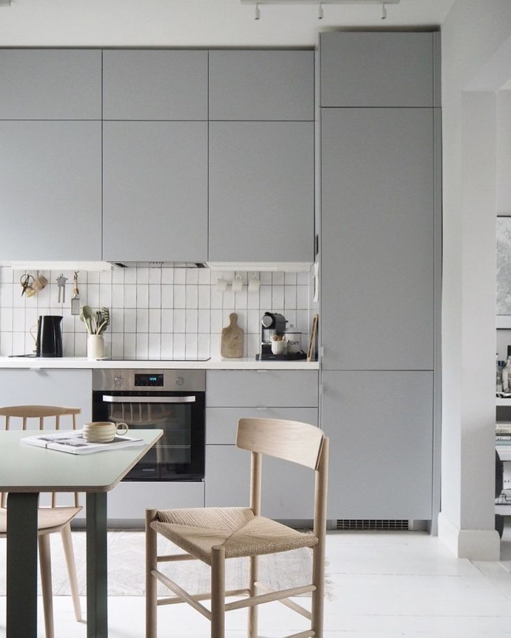Grey Ikea kitchen. From Head to Home: 5 tips for planning a redecoration project, with IKEA