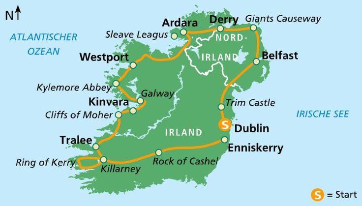 """Busrundreise """"all the best"""" Irland"""