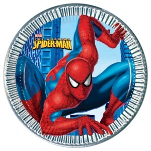 Spiderman party plates from Easykid