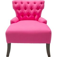 big seat. tufted. pink. : Big Pink, Limes Chairs, Pink Furniture, Hot Pink, Pink Chairs Lov, Chairs Ideas, Occasional Chairs, Houses Decor Ideas, Dreams Houses Decor
