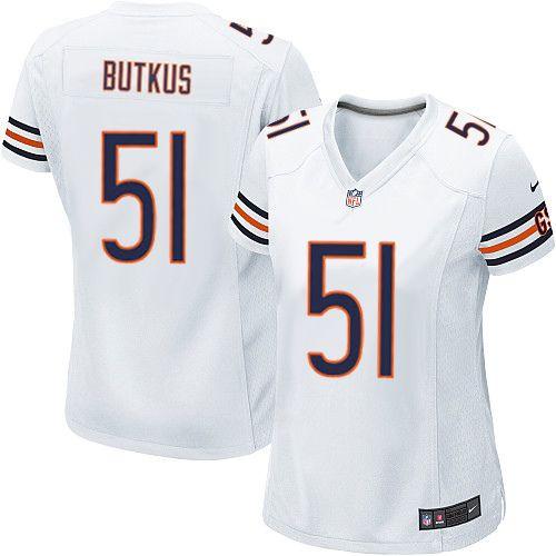 nike chicago bears dick butkus limited jersey women white 51 nfl jerseys sale nfl jersey