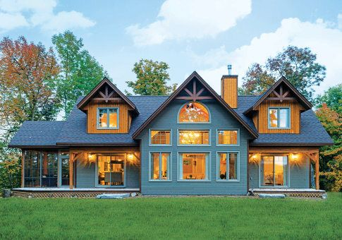 Best 25 cedar homes ideas on pinterest cabin kit homes for Prow front house plans