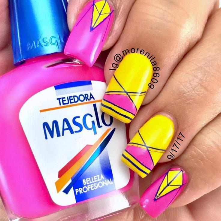 Geometric Nails     #nails #sexynails #nailstamping #nailart #geometricnails #masglo #pinknailsnow